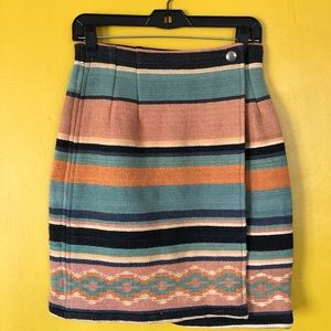 VINTAGE Southwestern Woven Navajo Wrap Skirt